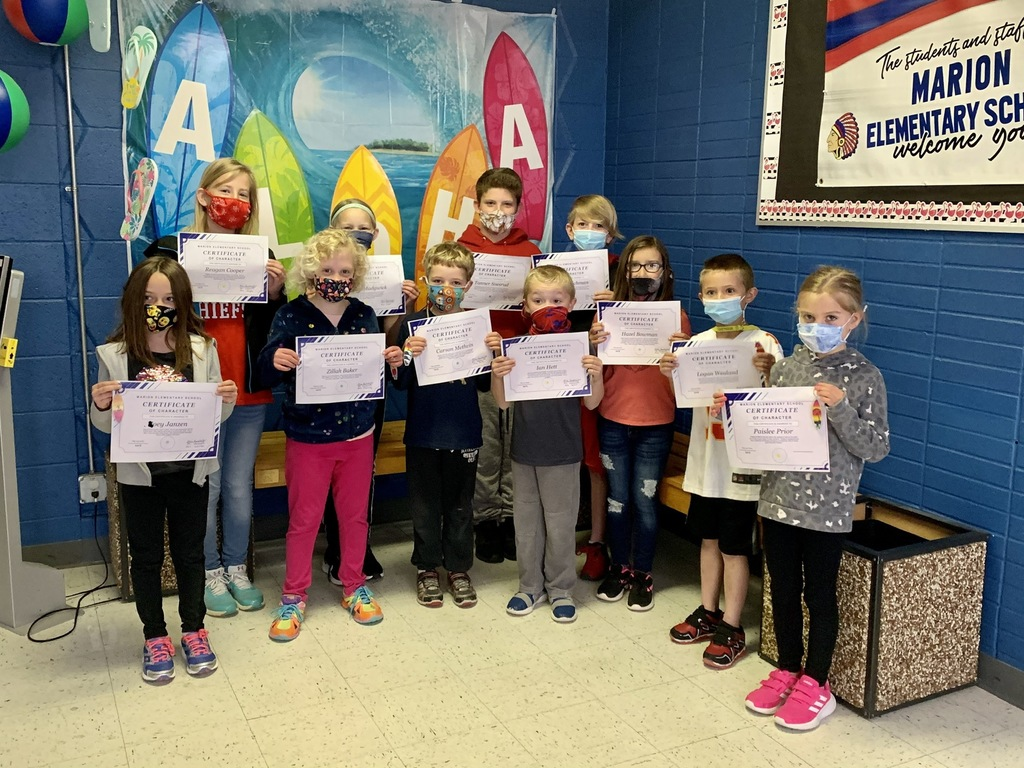 Congratulations March Character Winners!