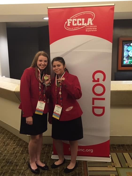 Congratulations Anna and Destiny! Both received gold ranking on their STAR Event presentation at FCCLA Nationals!!!