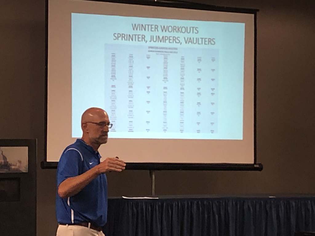 Coach Thierolf presenting at the KSHSAA coaching clinic!