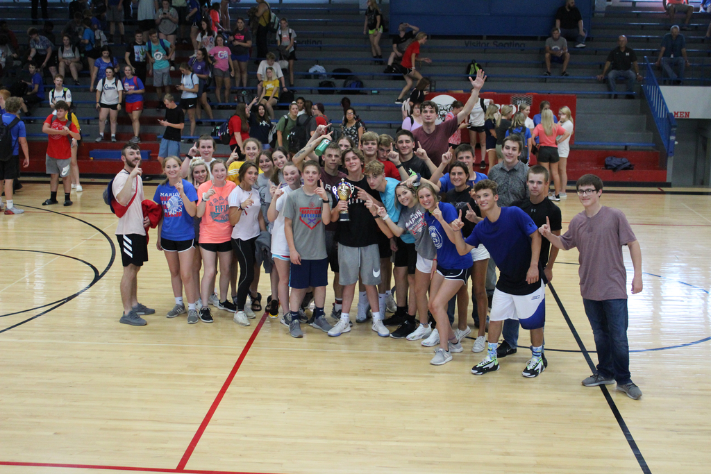 Juniors winning the trophy today! Class vs. Class competitions were a success! Great job MHS