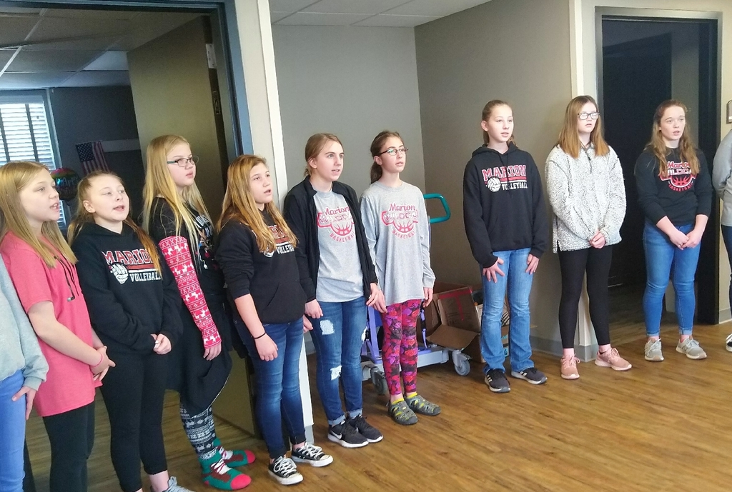 7th grade girls singing Carol of the Bells