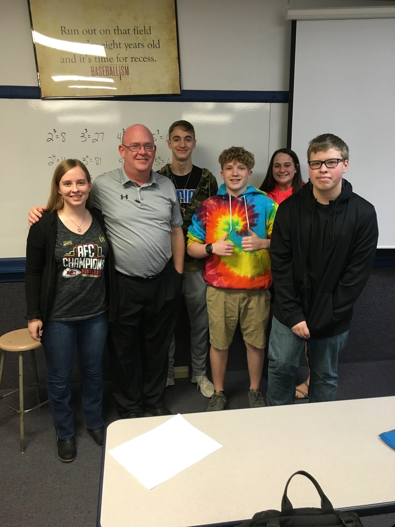 Mr. Robson and some of his Algebra 2 students